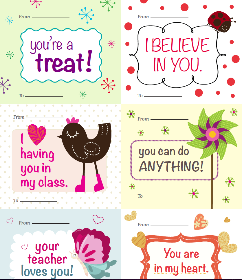 Freebie Teacher Valentines These Thoughtful Notes Are