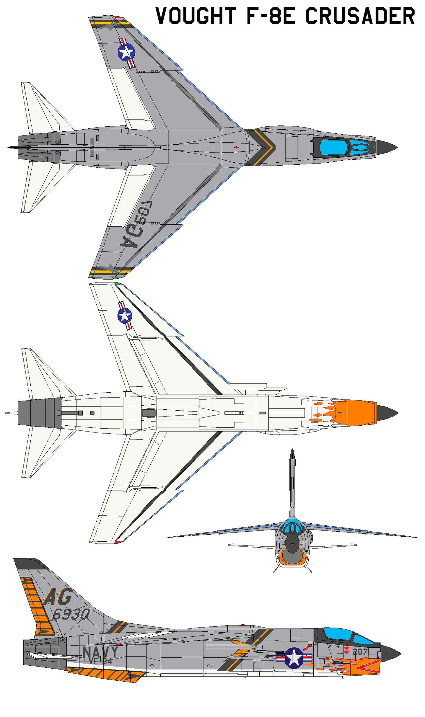 Vought F-8 Crusader : vought, crusader, Vought, Crusader, Military, Aircraft,, Fighter, Aircraft