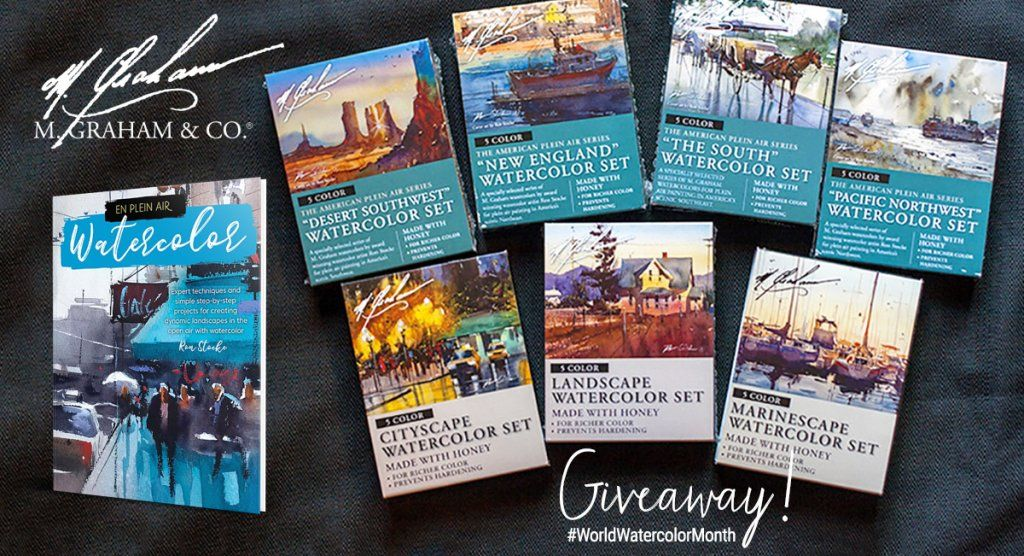 M Graham World Watercolor Month Giveaway Plein Air Watercolor