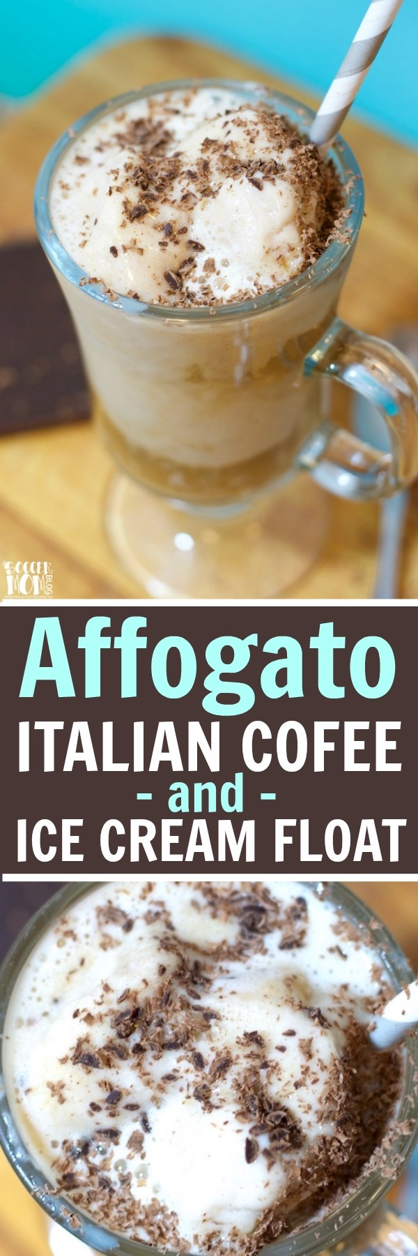 """The word affogato literally means """"drowned"""" in Italian — Easy, 3 ingredient classic ice cream and coffee dessert. It's a coffee-lover's dream come true!!"""