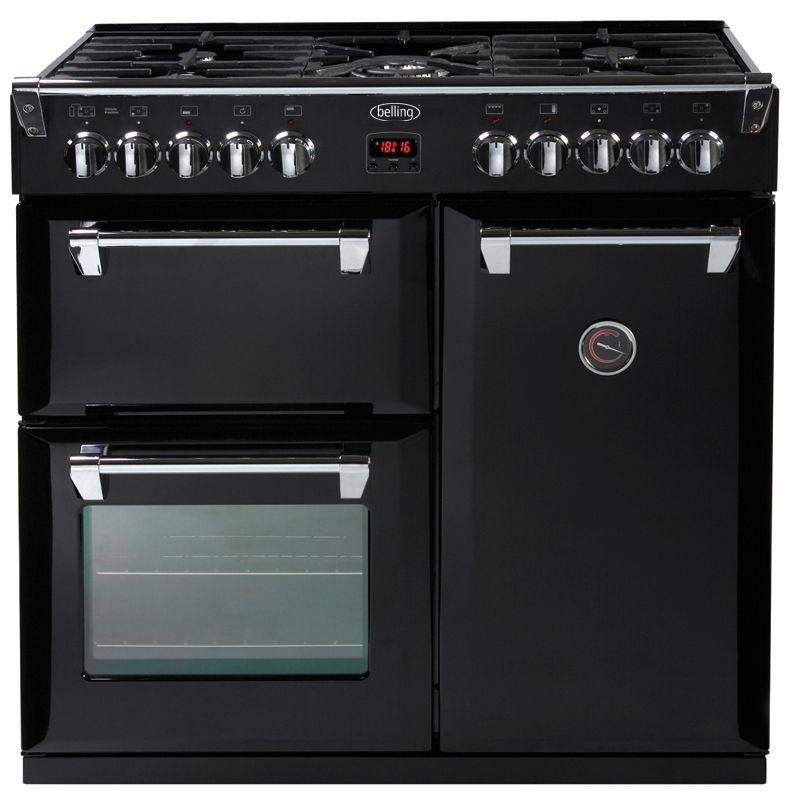 Freestanding Range Cookers Uk Part - 49: Belling Richmond 90cm Dual Fuel Range Cooker - Black- Main Multifunction  Electric Oven - 9