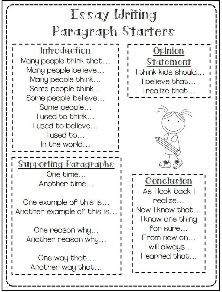 Image result for paragraph starters teaching stuff pinterest