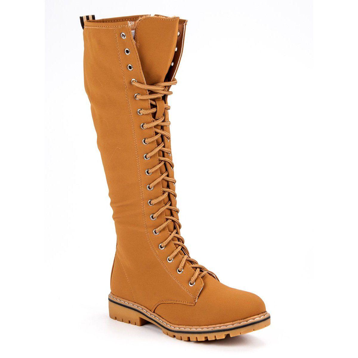 Seastar Sznurowane Kozaki Damskie Brazowe Womens Boots Boots Boot Shoes Women
