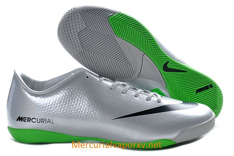 official photos 7e49e 82e5a Nike Mercurial Vapor IX IC Indoor Soccer Shoes Silver Black Green