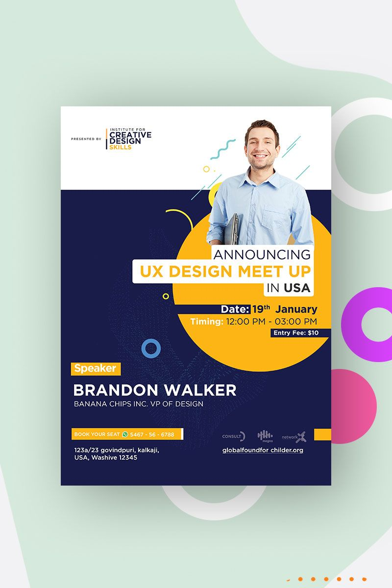 Event Poster Flyer Design Corporate Identity Template 96864 In 2020 Event Poster Event Planning Organization Corporate Event Planning