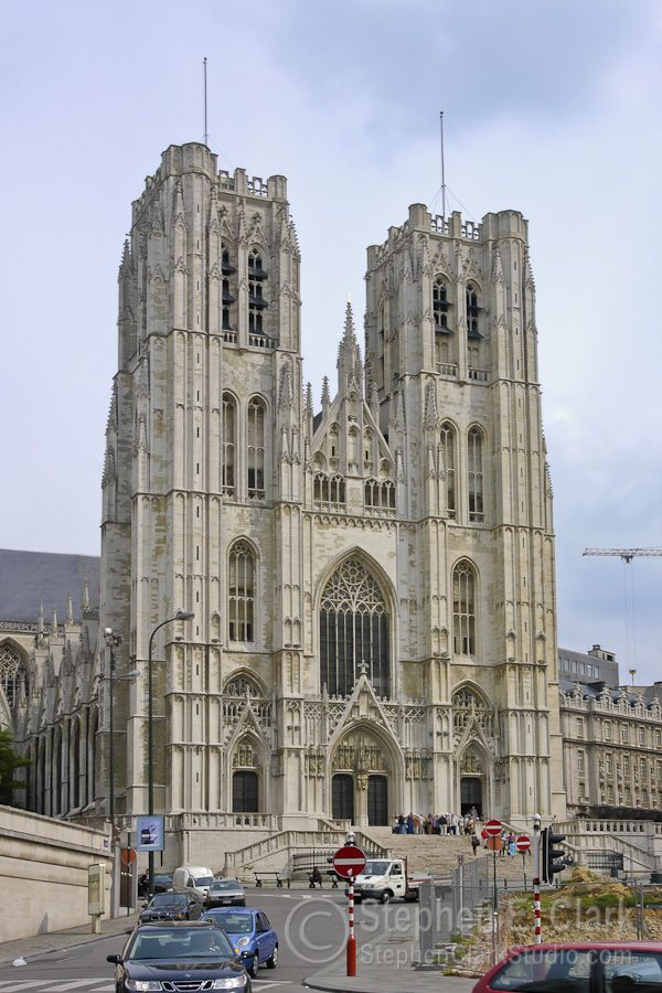 The Cathédrale des Sts-Michel-et-Gudule, the national church of Belgium.