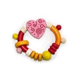 Hess Spielzeug Pink Heart Rattle