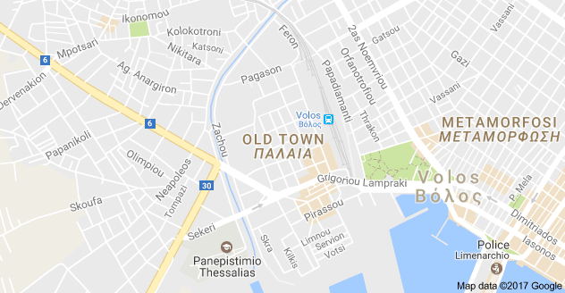Map of Old Town Volos 383 34 VOLOS Pinterest