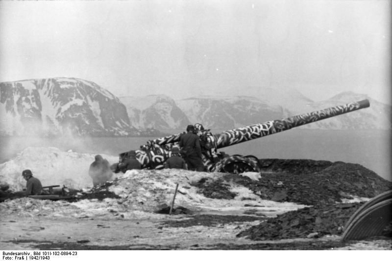 German coastal artillery in Lapland, Finland, 1942-1943 Photographer Fraß Source German Federal ...