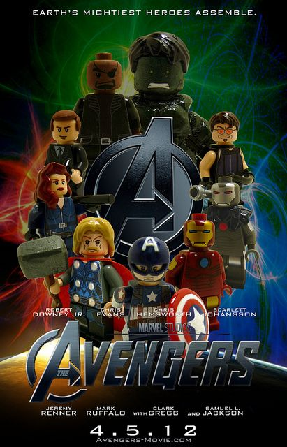 The lego avengers poster by tin7 creations via flickr - Film lego marvel ...