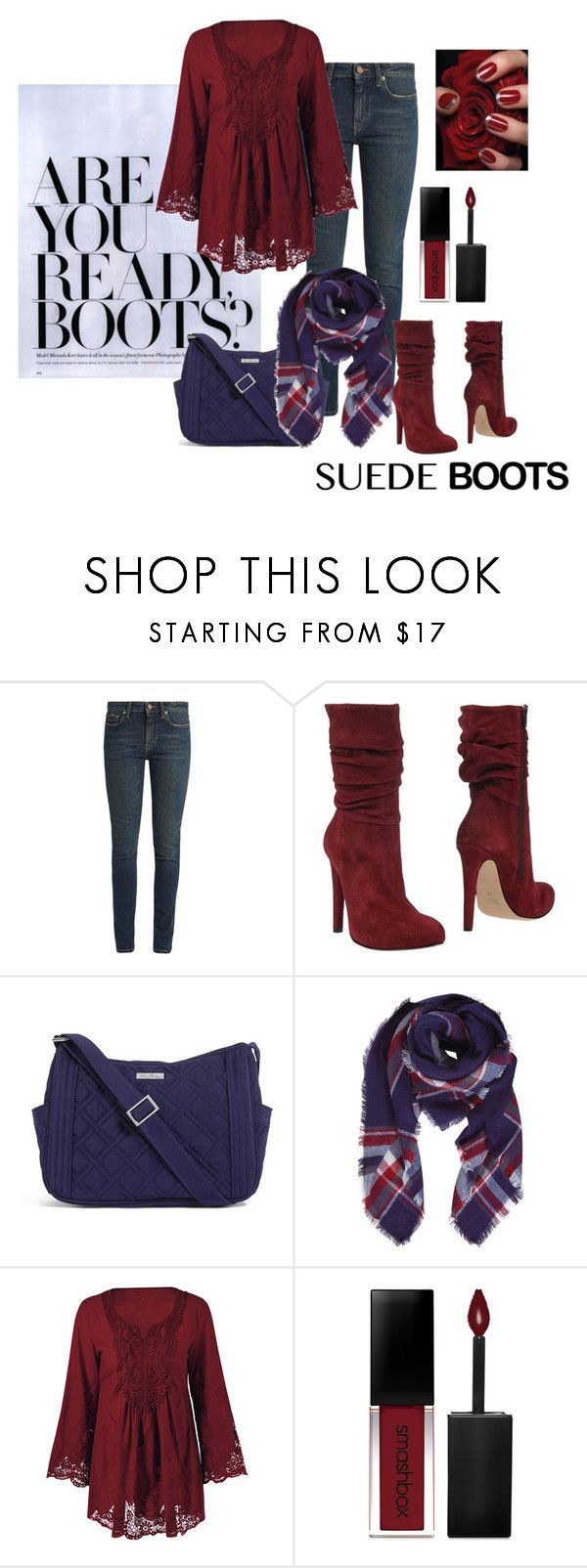 """""""Boots"""" by janie-xox ❤ liked on Polyvore featuring Yves Saint Laurent, Jolie By Edward Spiers, Vera Bradley, Humble Chic and Smashbox"""