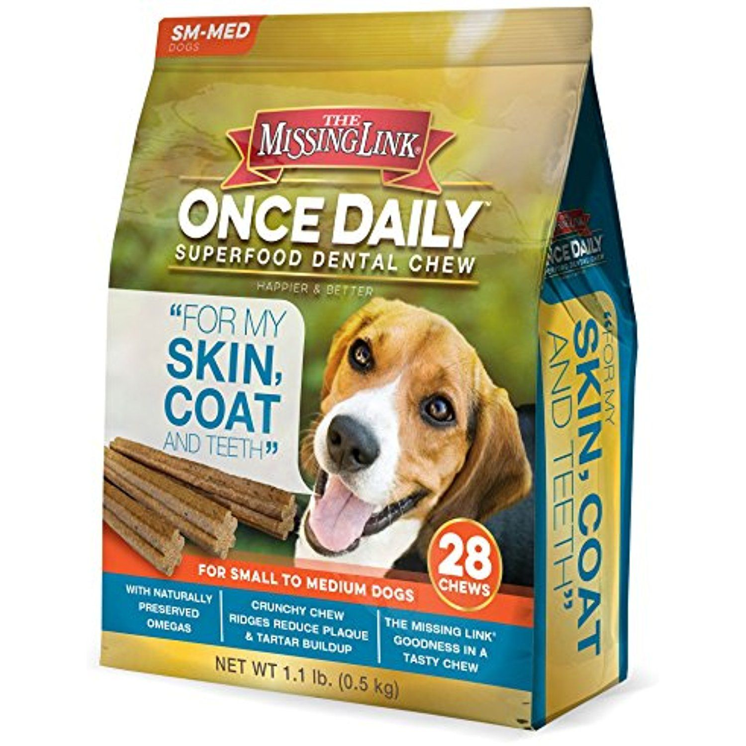 The Missing Link Once Daily Skin Coat Superfood Dental Chew Small Medium Dog 28 Ct For You To View Further For This Item Medium Dogs Dental Happy Dental