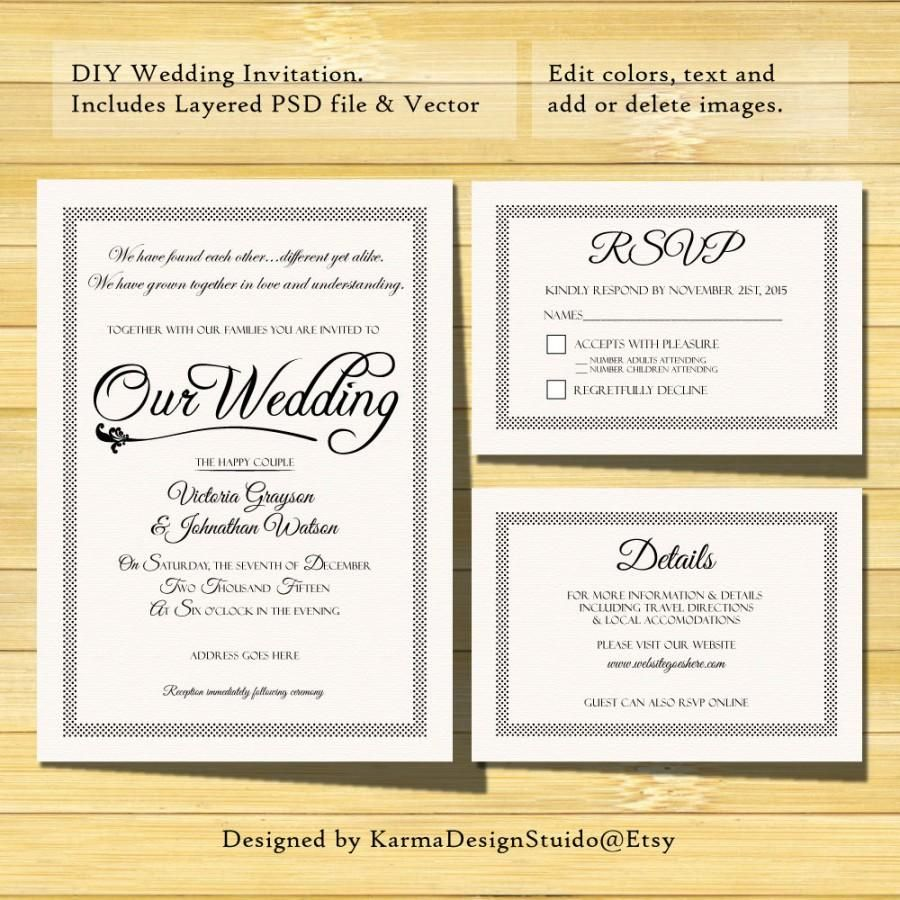 Rsvp Invitations Templates Papele Alimentacionsegura Throughout Template For Rsvp Rsvp Wedding Cards Wedding Invitation Details Card Wedding Invitations Diy