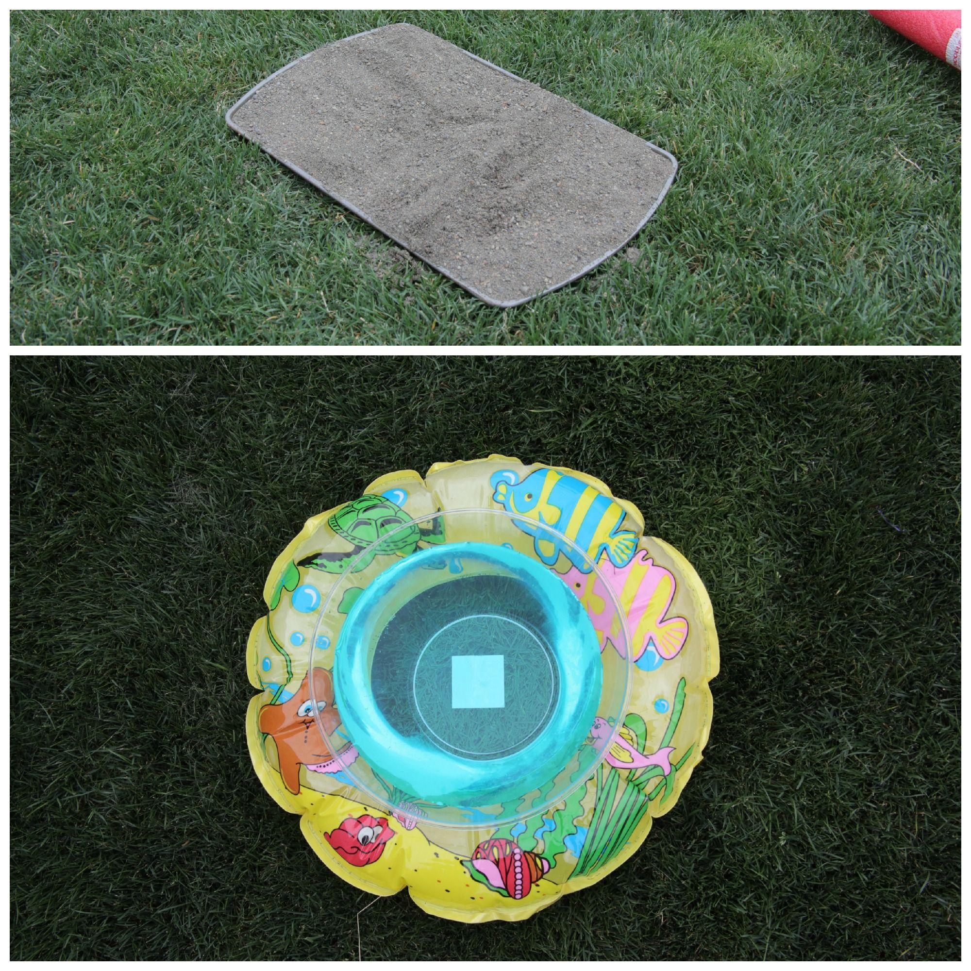 DIY Mini Golf Course - sand trap and water hazard!