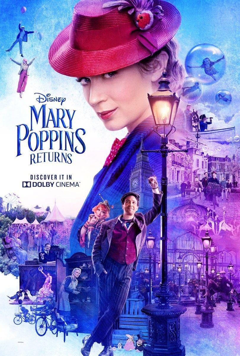 Novo Poster Oficial De O Retorno De Mary Poppins Estreia Em 20
