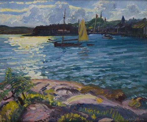 John Sloan, Glare on the Bay 1914 on ArtStack #john-sloan #art
