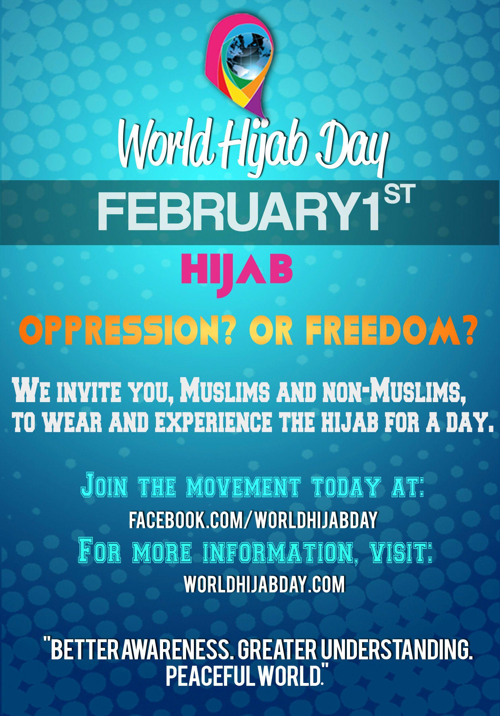 world hijab day #awareness #peace #islam #freedom #freedom of
