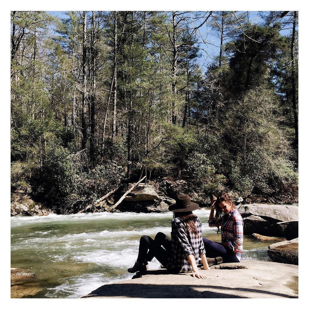 Long drives along country roads picnics on the river skipping rocks and stories of doing this very thing growing up. Nostalgia has kicked in big time while being here with my little sis. #momentssquared Re-post by Hold With Hope