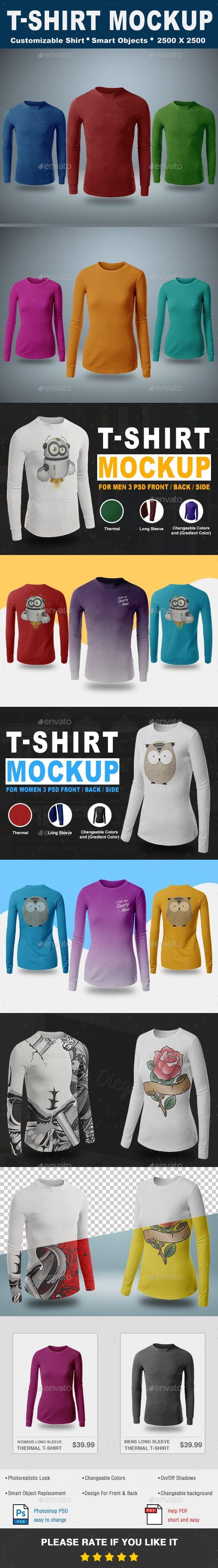 Download Thermal T Shirt Mockup Vol 2