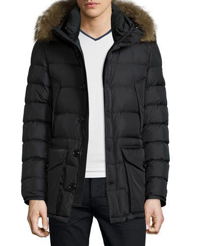 Yayu Mens Down Coat Mid-Long Hooded Coat Thicken Down Jacket
