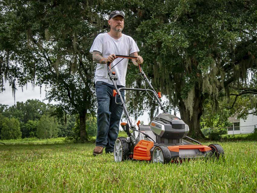 Redback 120V SelfPropelled Lawn Mower Review Lawn mower