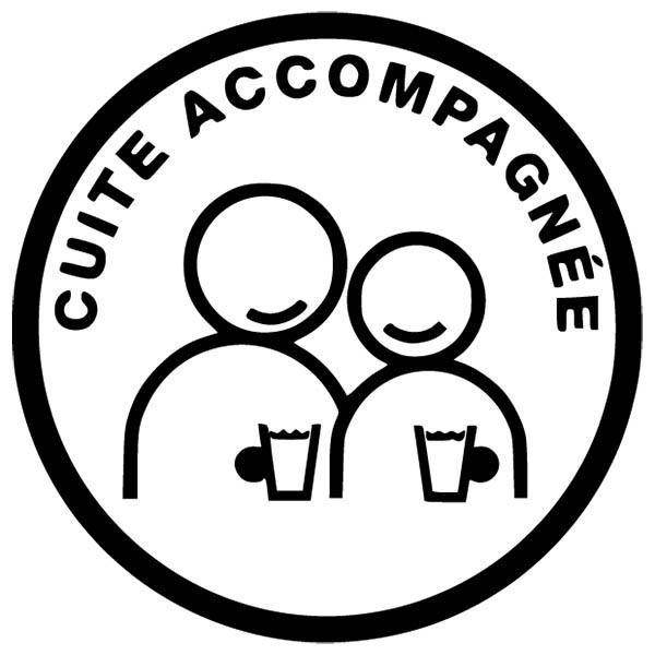 Sticker Voiture Humour Cuite Accompagnée Livraison Gratuite