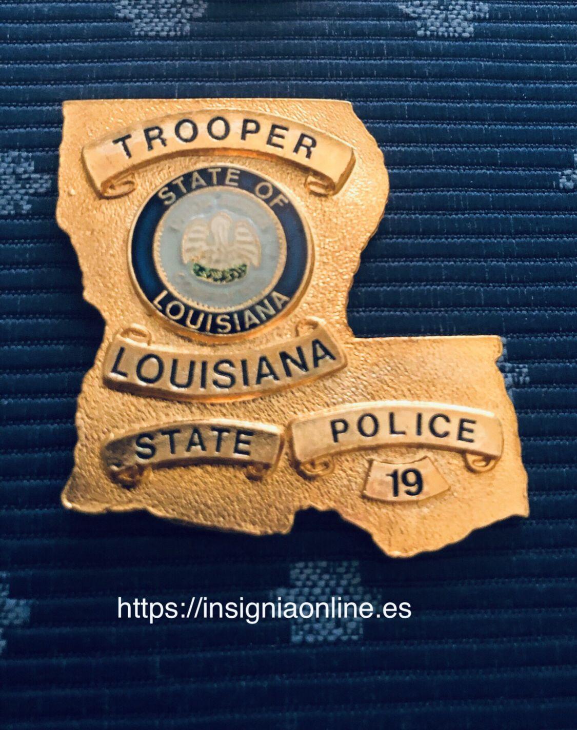 Louisiana State Police Badge Police Badge State Police Police
