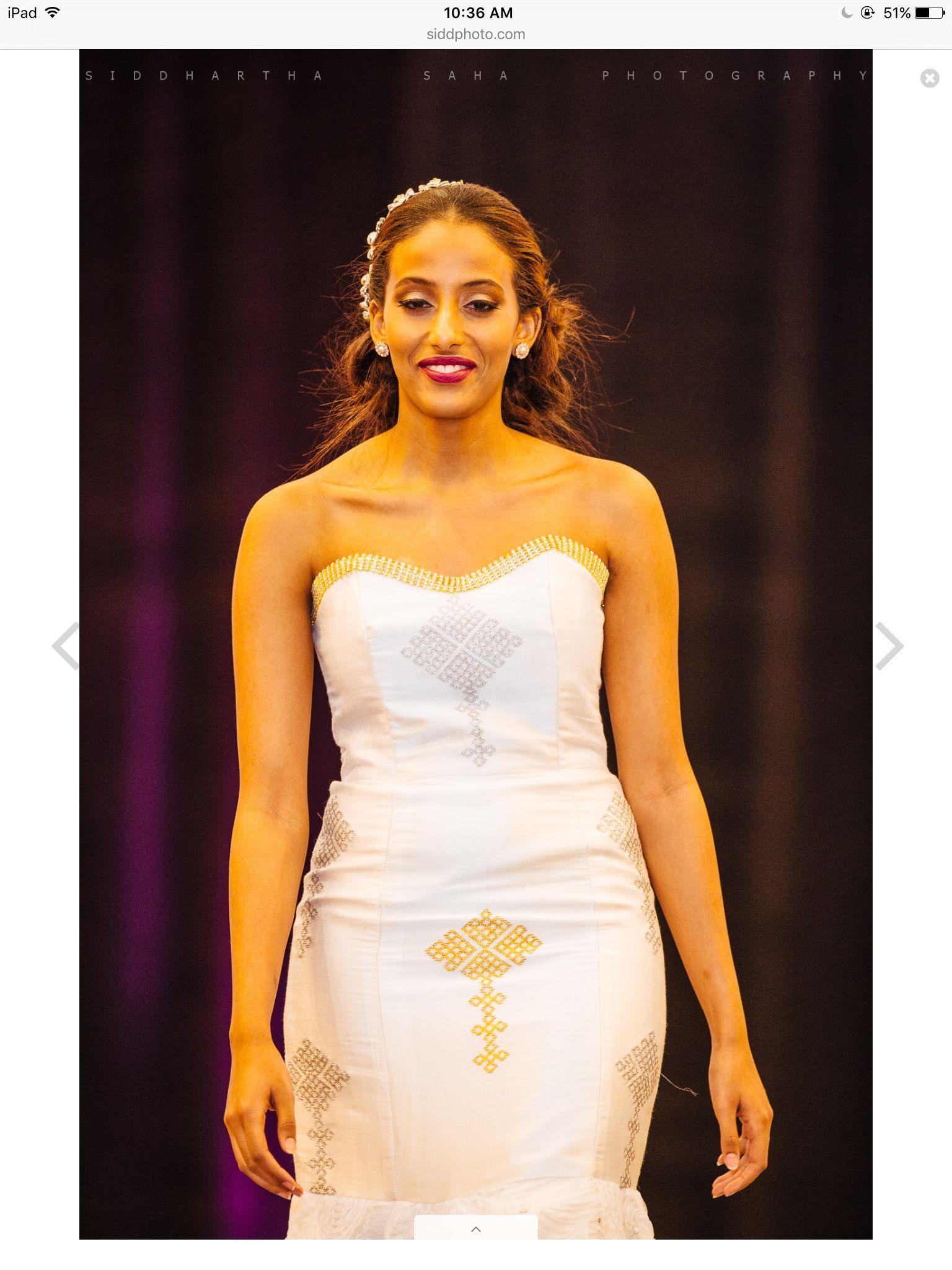 Habesha bridal dress blue touch pinterest bridal for Habesha dress for wedding