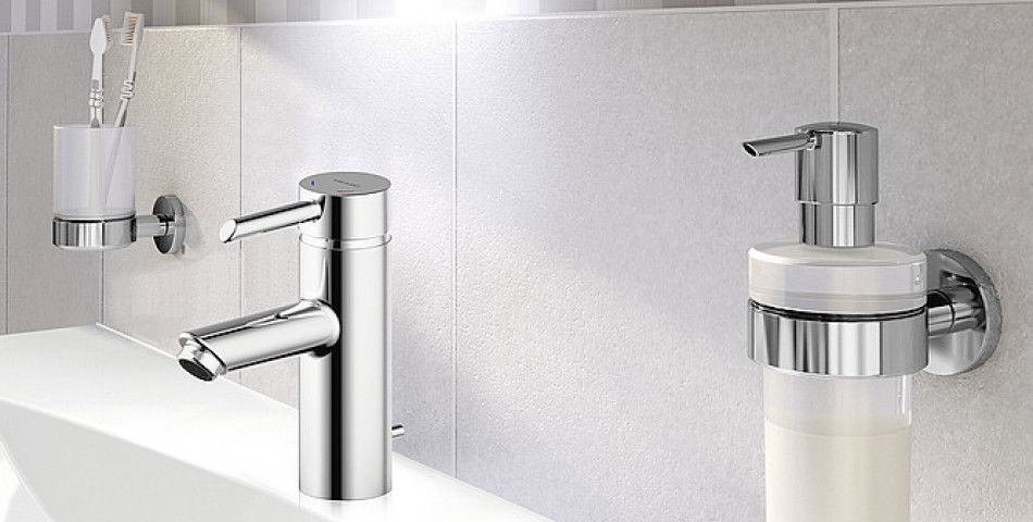 Fixing bathroom accessories without drilling in tiles