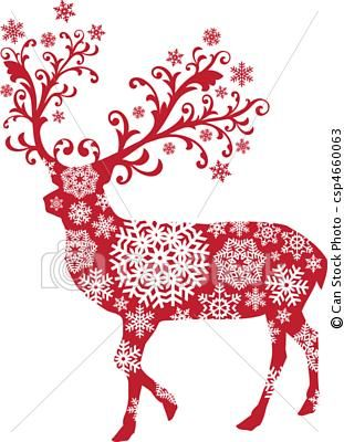 Vector Christmas Deer Vector Stock Illustration Royalty Free Illustrations Stock Clip Art Icon Christmas Deer Christmas Vectors Scandinavian Christmas