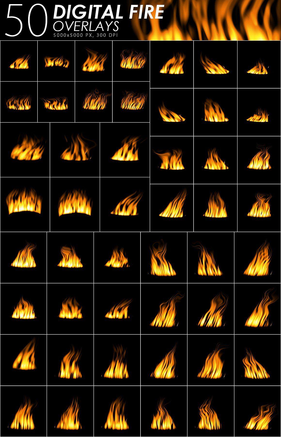 575 Fire, Smoke, Fog Overlays textures