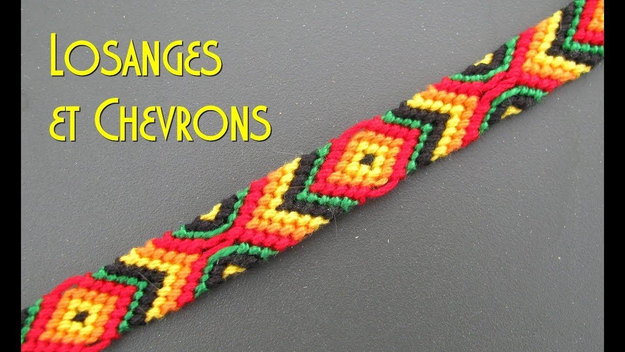 TUTO] Bracelet brésilien Losanges et Chevrons (Intermédiaire