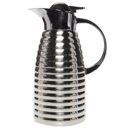 Service Ideas 1 5 Liter Thermal Carafe Beehive Style Stainless Steel Insulated Drink Server Hot Cold Kitchenideas
