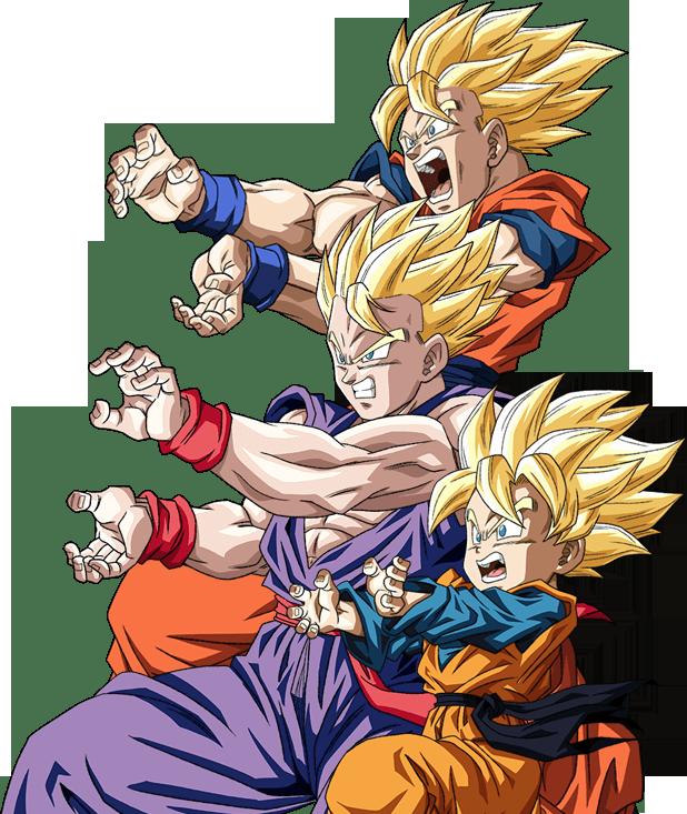 Goku Gohan Goten Render Dokkan Battle By Maxiuchiha22 Goku And Gohan Dragon Ball Super Manga Dragon Ball Goku