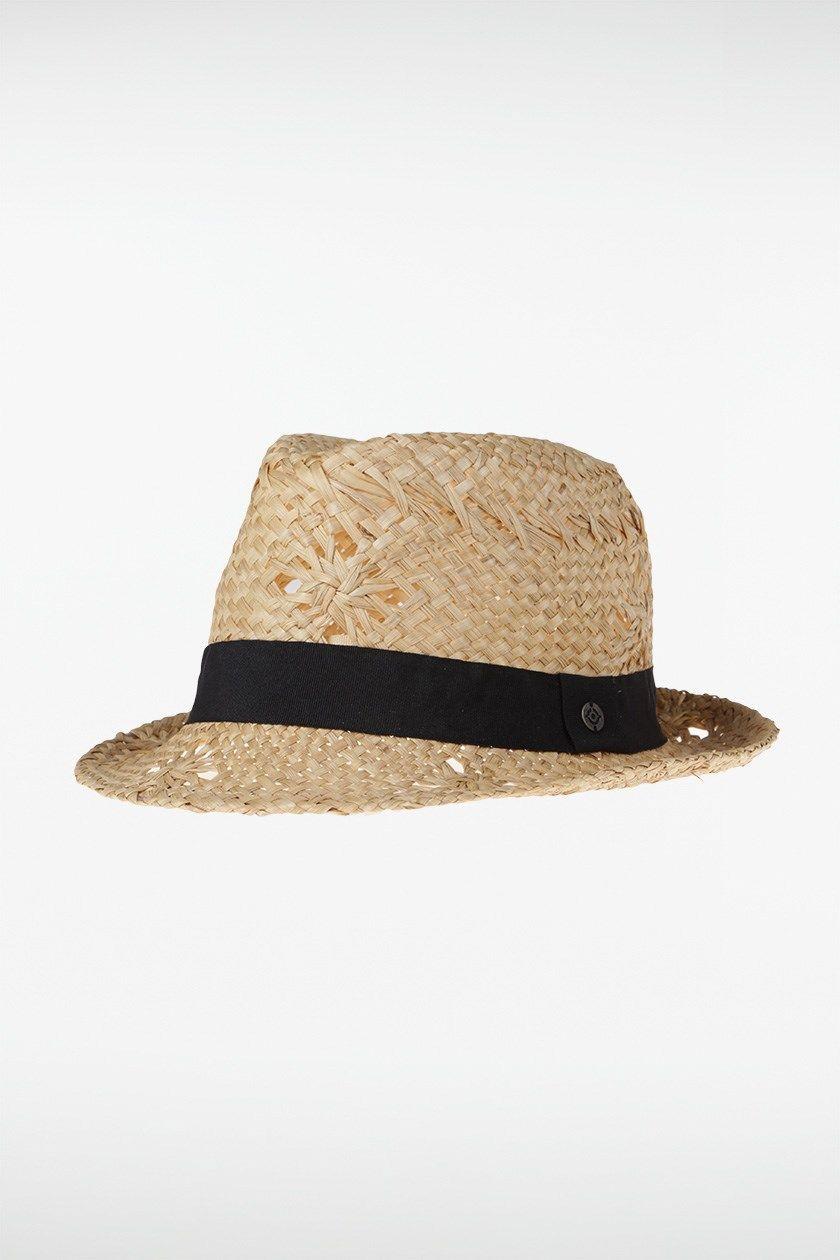 Femmes paille plage chapeaux fedora floppy nœud rayure osier bonnet cap papier summer