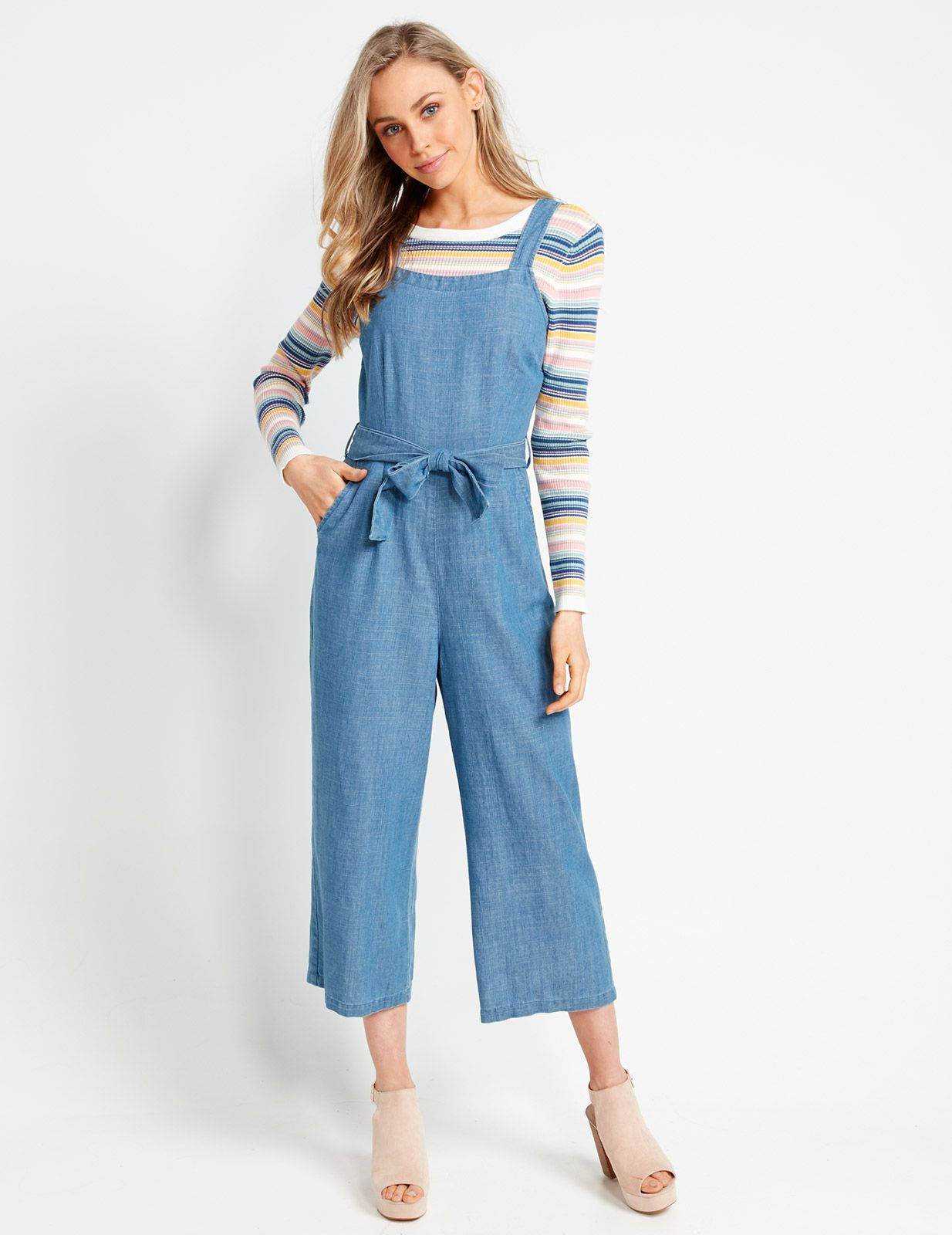 8d3e9069df9 Image for Denim Culotte Playsuit from Dotti