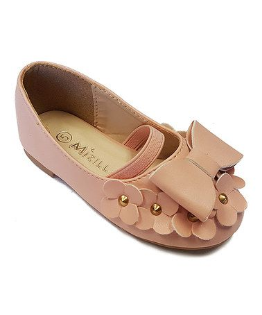 a6c7522d1e4ec This Nude Bow Elastic-Strap Ballet Flat by Mizilla is perfect!  zulilyfinds  Zapatillas
