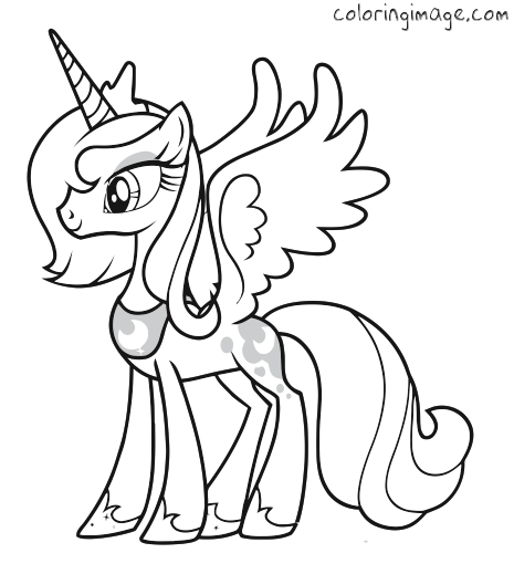 My Little Pony Coloring Page Princess Luna Ausmalbilder