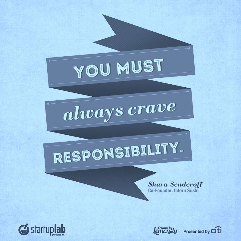 You Must ALWAYS Crave Responsibility.