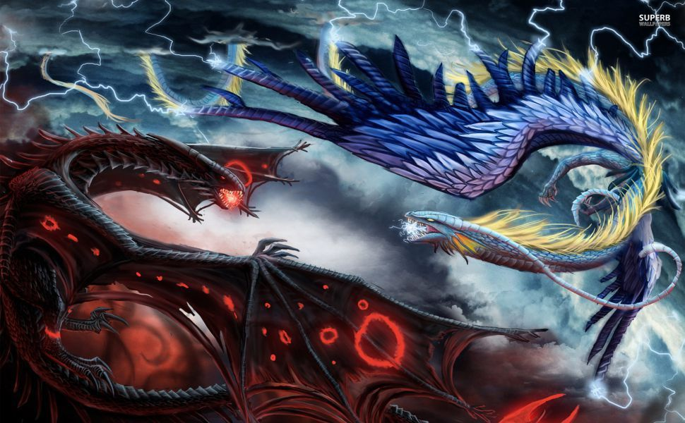 fire and ice dragon in battle hd wallpaper wallpapers pinterest