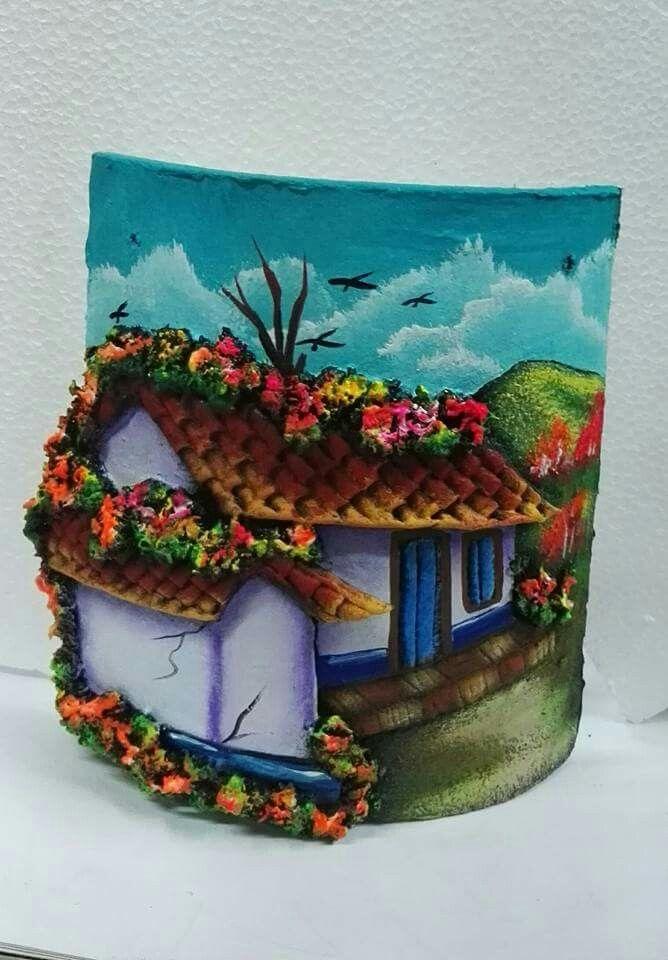 Pin de elba rivera en tejas pintadas o decorada tejidos manualidades y tejas de barro Pintar tejas de barro
