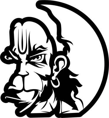 fae79d6796a78 iDesign Face 5inch for activa & any white sarface Sides Car Sticker in 2019    sketch   Hanuman tattoo, Hanuman, Hanuman wallpaper