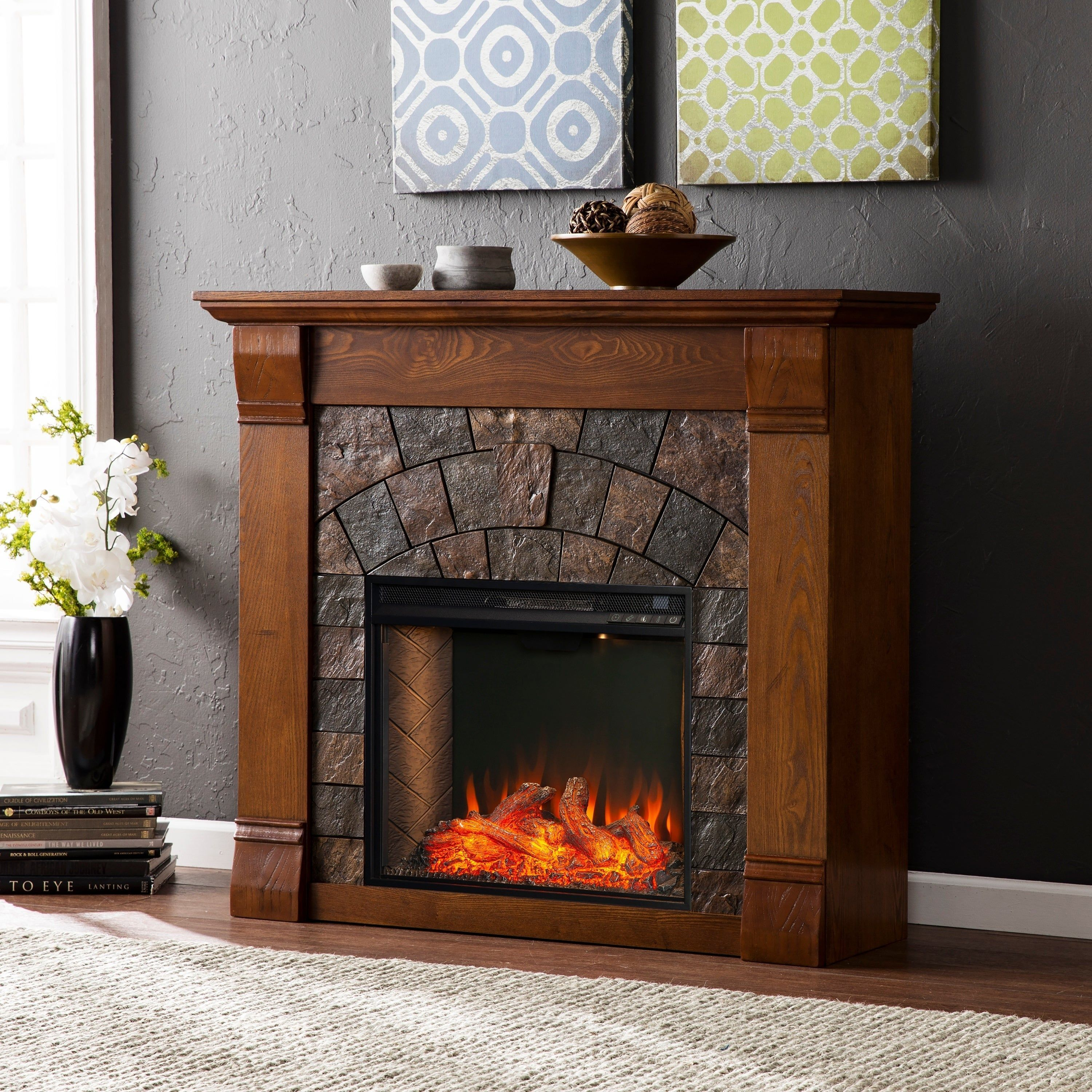 Fantastic totally free faux electric fireplace popular