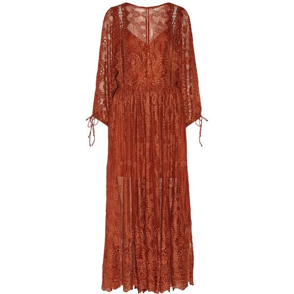 Zimmermann Alchemy broderie anglaise silk-georgette dress featuring polyvore…