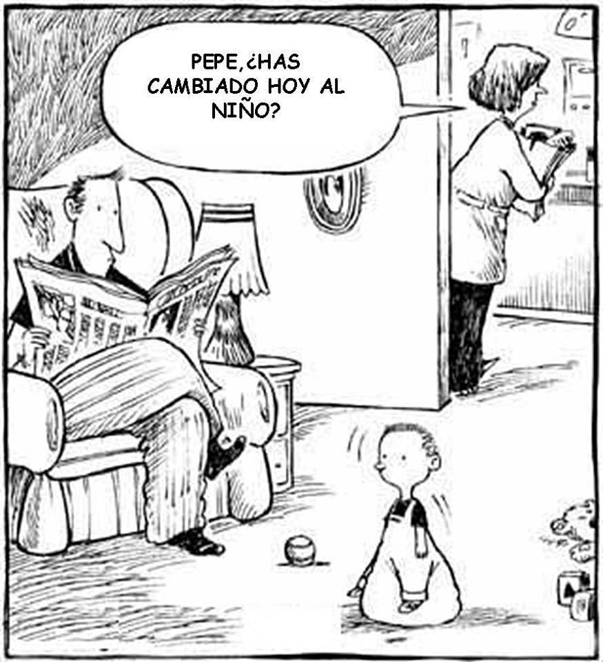 Pepe has cambiado hoy al niño??