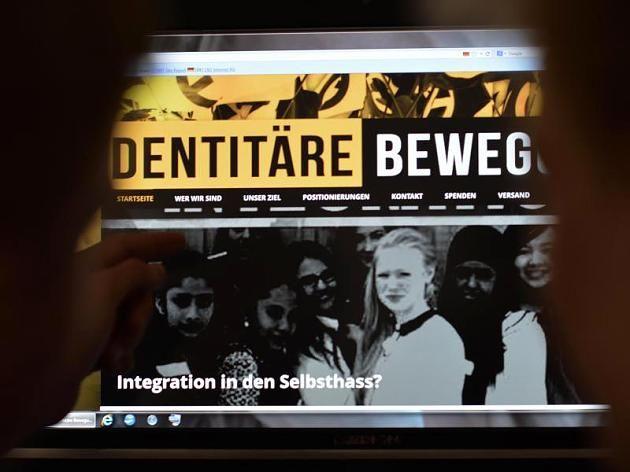 Der Internetauftritt der Identitären Bewegung ist betont jung und modern.
