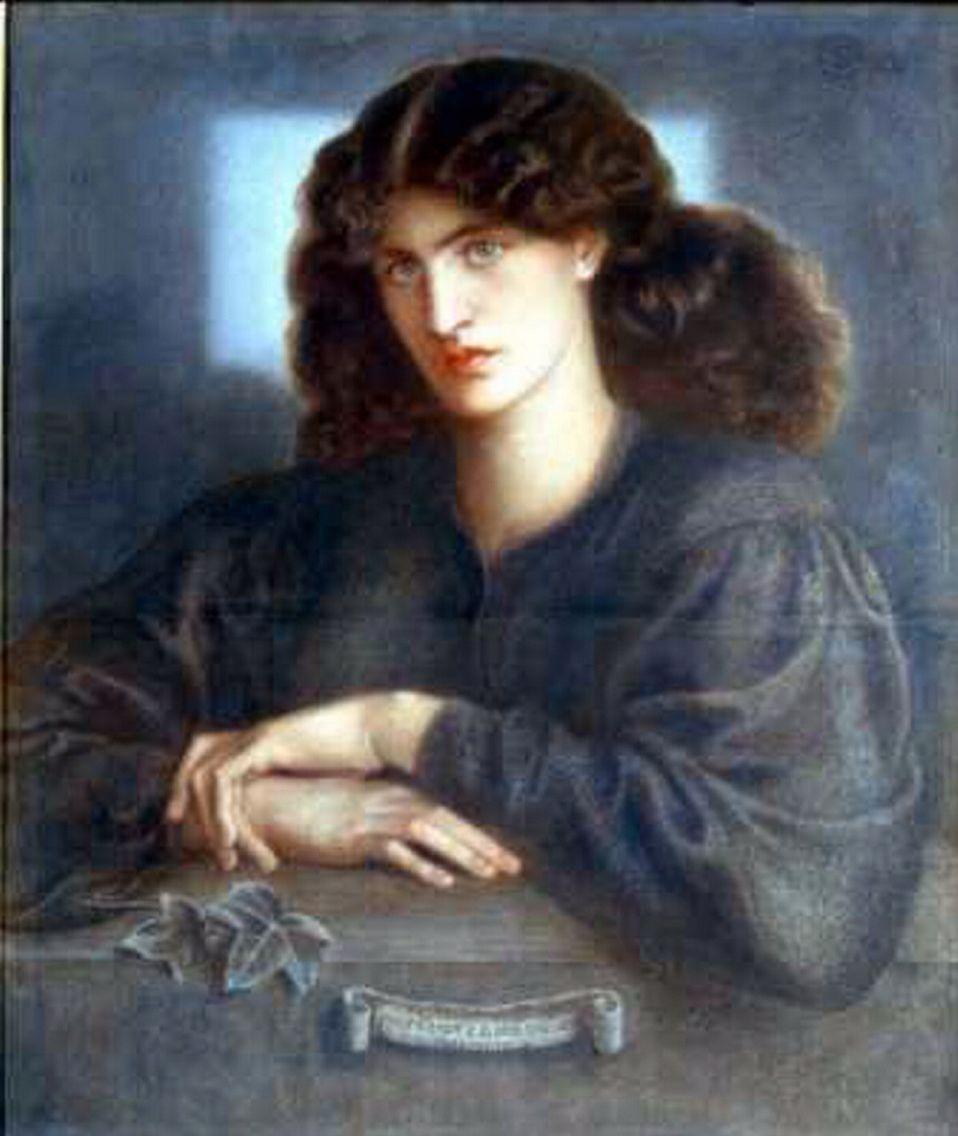 A painting of Jane Morris entitled La Donna della Finestra by Dante Gabriel Rossetti, ca.1870. Pastel on paper