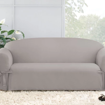 Cotton Duck Sofa Slipcover Relaxed Fit 100 Cotton Machine Washable In 2020 Slipcovered Sofa Slip Covers Couch Couch Covers