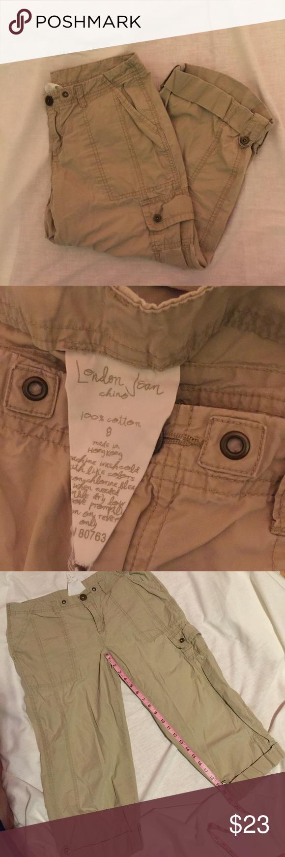 London Jeans Capri khaki cargo capris London Jeans Capri khaki cargo capris London Jeans Pants Capris