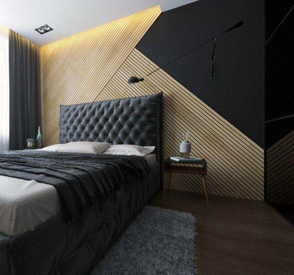 24 Creative Bedroom Wall Decor Ideas: Top 70 Best Wood Wall Ideas